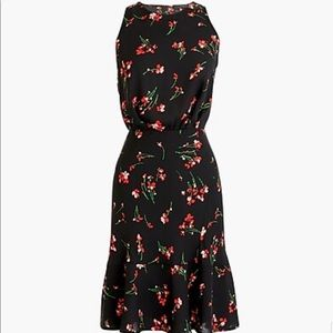 NWT Jcrew Failing Floral Ruched Waist Dress